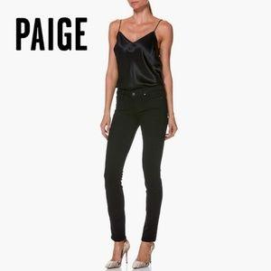 Paige Skyline Skinny Black Denim Mid Rise Jeans 24